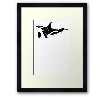 Orca (White Text) Framed Print