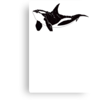 Orca (White Text) Canvas Print