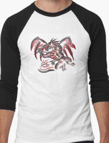 Red gray artistic dragon drawing T-Shirt