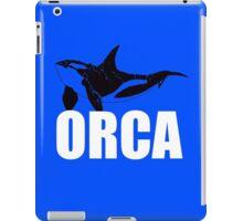 Orca (White Text) iPad Case/Skin