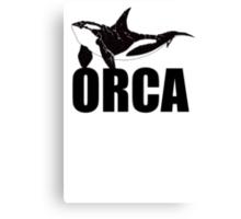 Orca (Black Text) Canvas Print