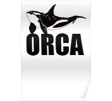 Orca (Black Text) Poster