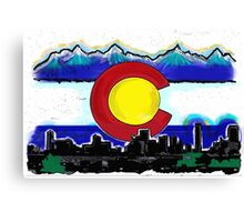 Artistic Denver Colorado skyline design Canvas Print