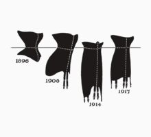 Corsets in a line tee by ShabbyChick