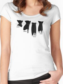 Corsets in a line tee Women's Fitted Scoop T-Shirt