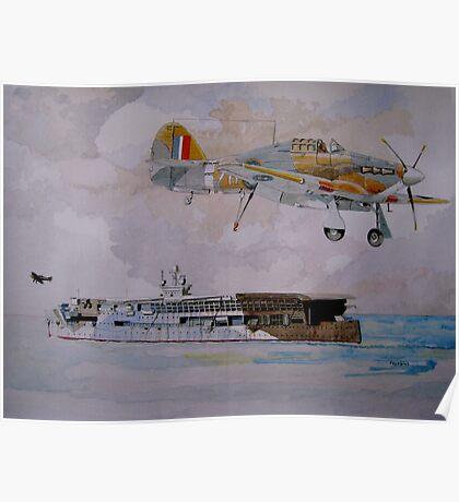 HMS Furious Poster