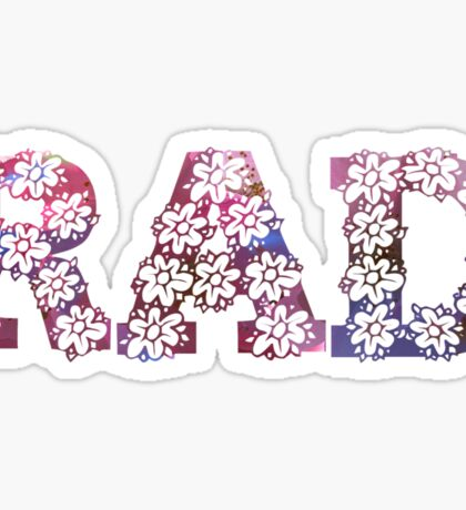 RAD FLOWERS Sticker