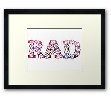 RAD FLOWERS Framed Print