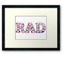 RAD FLOWERS Framed Print