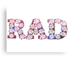 RAD FLOWERS Canvas Print