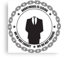 Anonymous is Legion Canvas Print