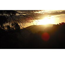 Sunset in the Adelaide Hills Photographic Print