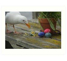Easter Egg Gull Thief Art Print