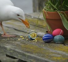 Easter Egg Gull Thief by balsora