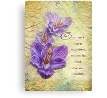 humility-inspirational Canvas Print