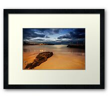 Curl Curl Beach Sunset Framed Print