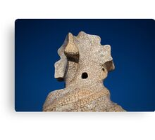 Gaudi Rooftop Canvas Print