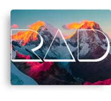 RAD MOUNTAINS Canvas Print