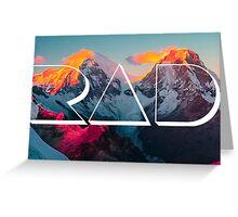 RAD MOUNTAINS Greeting Card