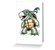 Teenage Mutant Snapping Turtle - Leonidas Greeting Card