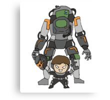 Robot Chibi Canvas Print