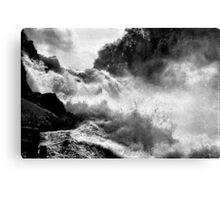 Rhine Falls Schaffhausen BW Canvas Print