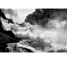 Rhine Falls Schaffhausen BW Photographic Print
