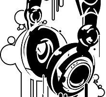 Grunge Headphones  by iJayyQ