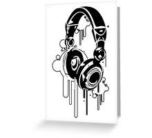 Grunge Headphones  Greeting Card