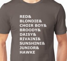 Dragon Age Nicknames (In White Text) Unisex T-Shirt