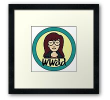 What would Daria do? Framed Print