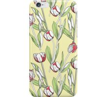 Seamless pattern with tulips iPhone Case/Skin