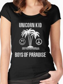 Unicorn Kid Tidal Rave Women's Fitted Scoop T-Shirt