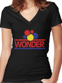Vintage Wonder Bread Women's Fitted V-Neck T-Shirt