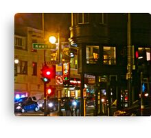 Night Time in North Beach Canvas Print