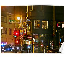 Night Time in North Beach Poster