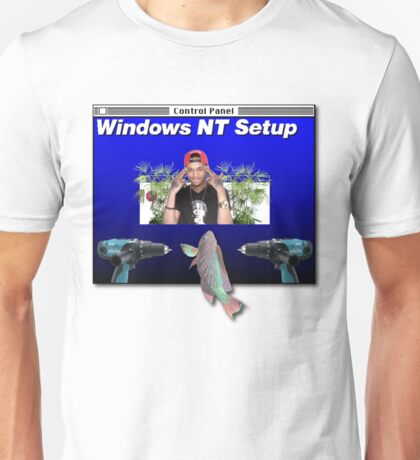 NT WORKSTATION 3.5 IN THE CUT THAT'S A SCARY SITE Unisex T-Shirt