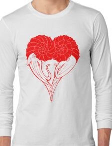 Ammonite Amore (Red) Long Sleeve T-Shirt