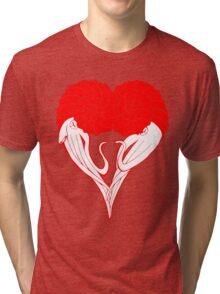 Ammonite Amore (Red) Tri-blend T-Shirt