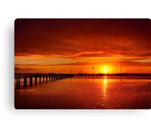 """Tangerine Dawn"" Canvas Print"