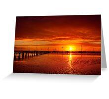 """Tangerine Dawn"" Greeting Card"