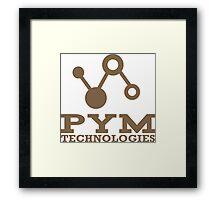 Pym Technologies Logo Gold Framed Print