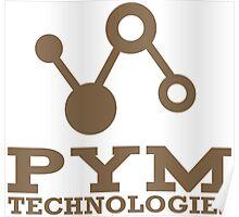 Pym Technologies Logo Gold Poster