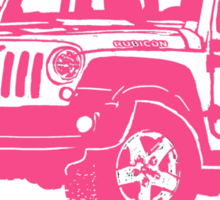 Pink Jeep wrangler drawing Sticker