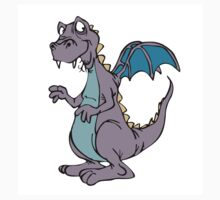 Purple blue winged cartoon dragon by artisticattitud