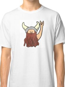 Rock on cartoon funny viking Classic T-Shirt