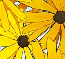 yellow flowers Sticker