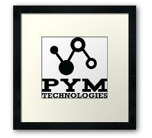 Pym Technologies Logo Black Framed Print