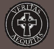 Veritas aequitas boondock saints cross  by RobertKShaw