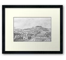 terraced fields Framed Print